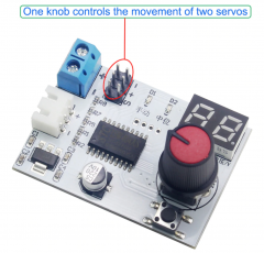 Servo Tester Knob Controller Voltage Display Board