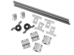 400mm 8mm Horizontal Double Track Lead Screw Coupling Bearing & Linear Shaft Optical Axis Bearing Set