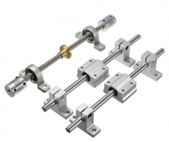 15pcs 200mm Optical Axis Guide Bearing Housings Aluminum Rail Shaft Support Set CNC Parts