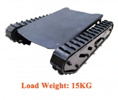 Robot Tank Chassis With Rubber Tracks 15kg Load