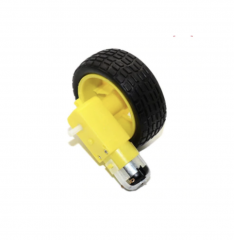 Car Robot Plastic Tire Wheel With DC 3-6V Gear Motor