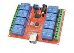 Programmable Relay 12V 8 Channels USB Computer Control