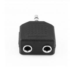 3.5mm 1 Male to 2 Female Stereo Jack Audio Headphone Splitter Adaptor