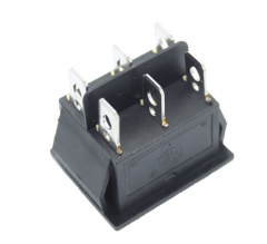 KCD4 6 Pin Black Rocker Switch