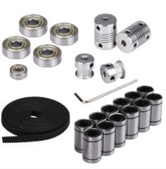 3D printer parts movement kit GT2 6mm belt pulley 608zz bearing lm8uu 624zz bearing 5x8 coupling