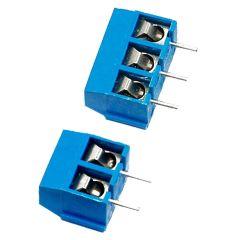 2Pin 3pin 5mm pitch PCB Screw Terminal Block Connectors 250V 16A 14-22AWG